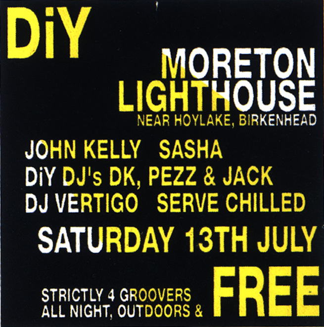 13th July 1991 Diy Free Party At Morton Lighthouse Birkenhead